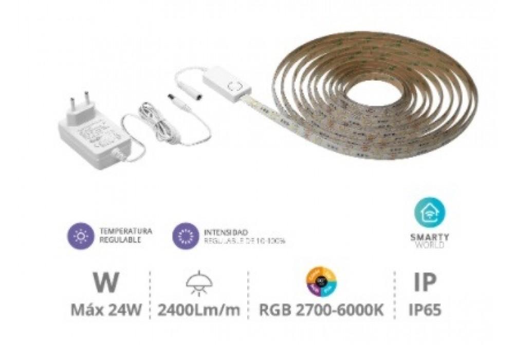 KIT TIRA DE LED INTELIGENTE 6W/M 5MTS