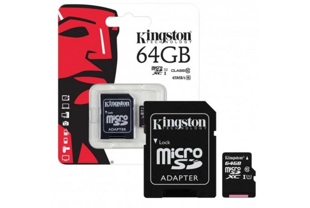 TARJETA MICRO SD+ADAPT 64GB