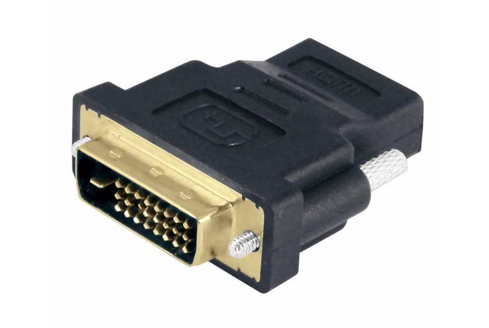 ADAPTADOR DVI 24+1 MACHO - HDMI HEMBRA