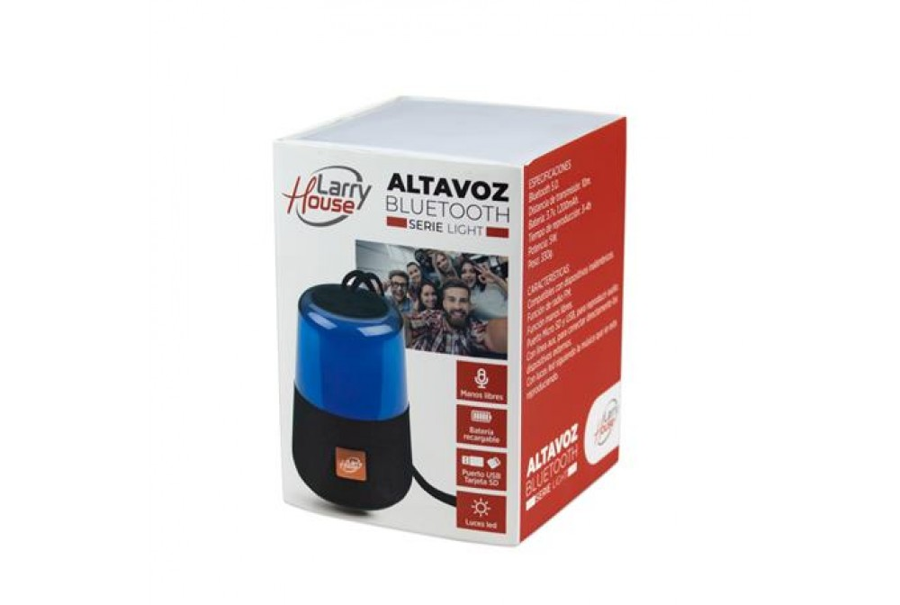 ALTAVOZ BLUETOOTH ROJO SERIE LIGHT