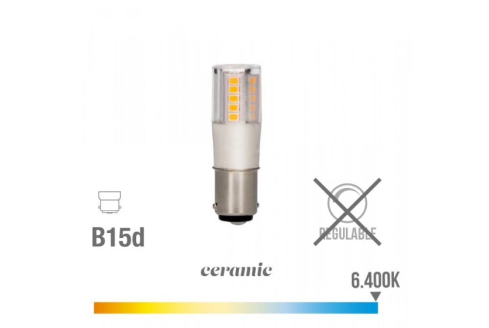 BOMBILLA DE LED BAYONETA 5,5W 6400K