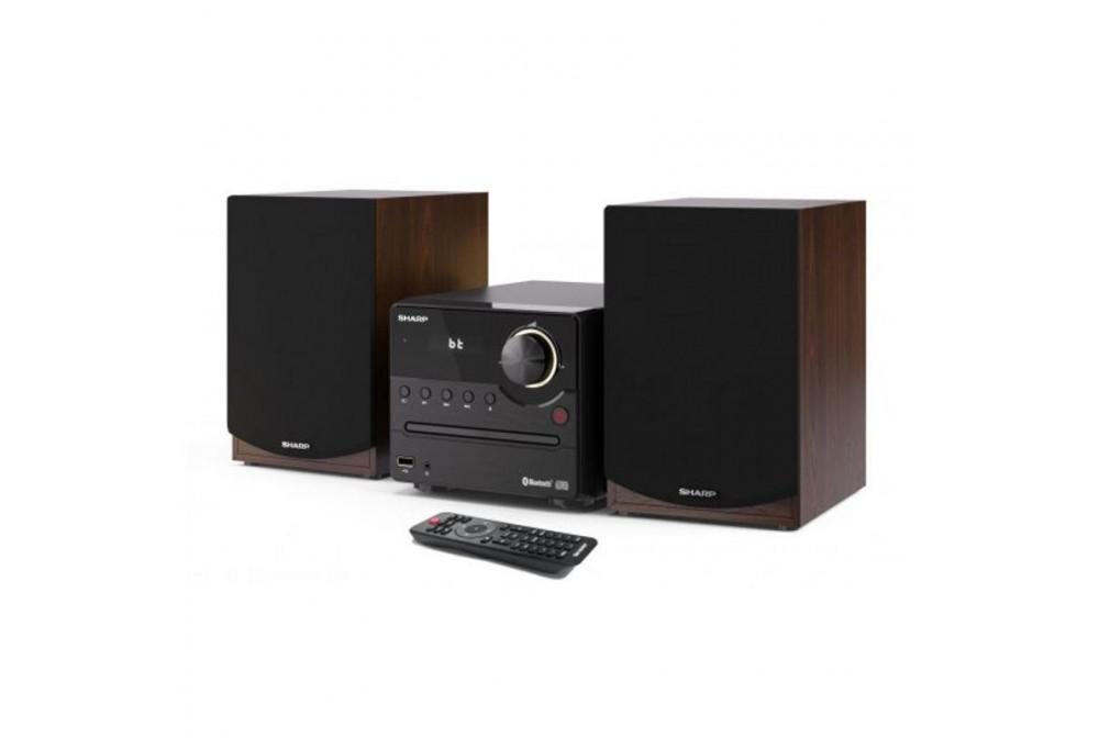 MICROCADENA 45W CON FM-BT-CD-MP3-USB-BR MARRON SHARP