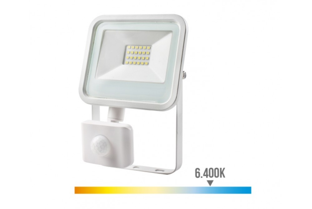 FOCO LED CON SENSOR 20W 6400K 1400lm