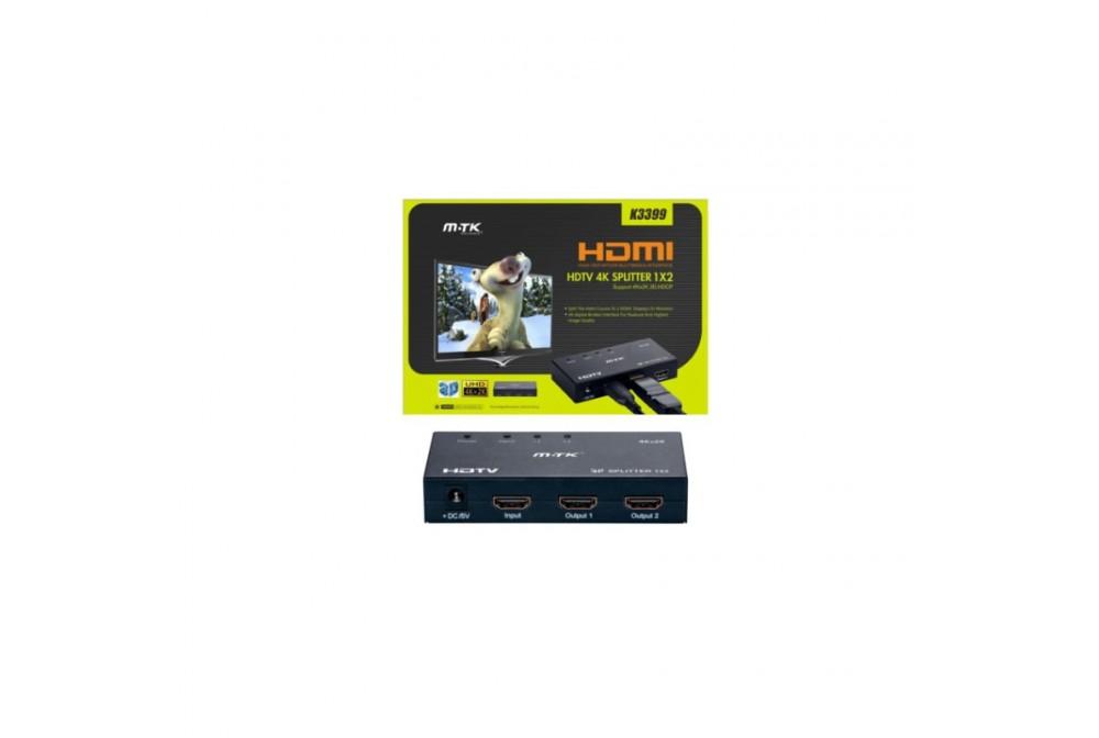 SPLITTER HDMI K3399 1 IMPUT 2 OUTPUT