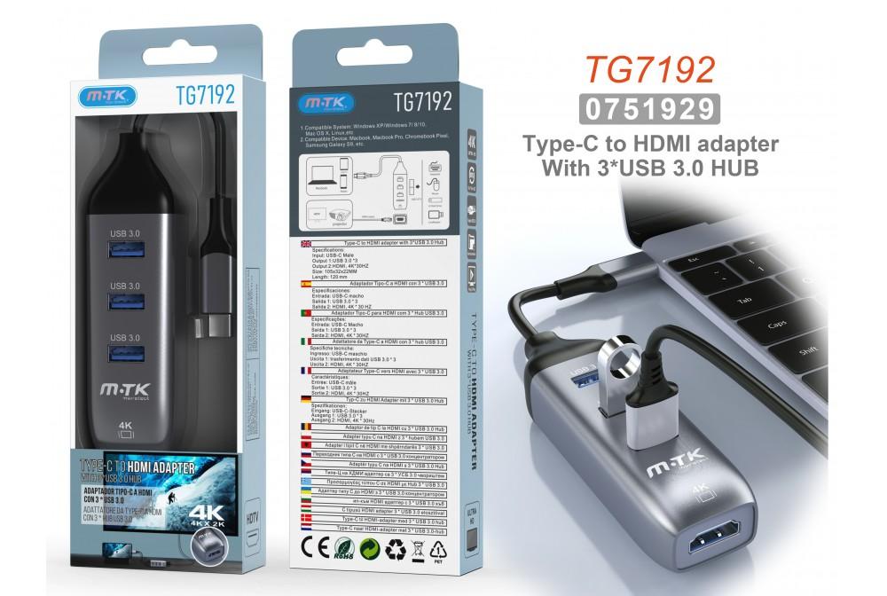 MULTIPUERTO USB 4 EN 1 3.0 TG7192
