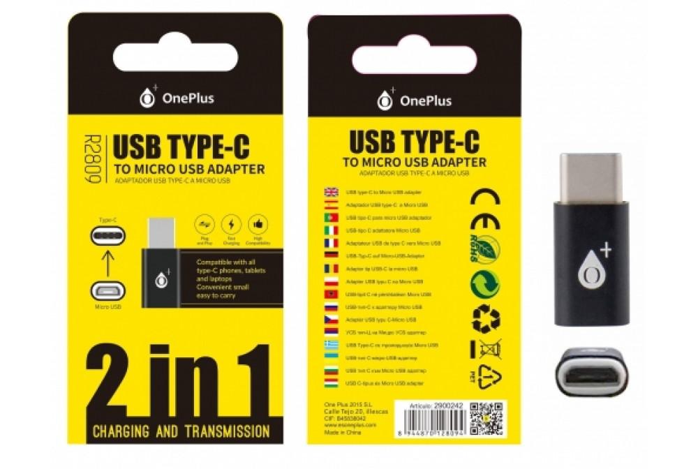 ADAPTADOR TYPE C A MICRO USB R2809