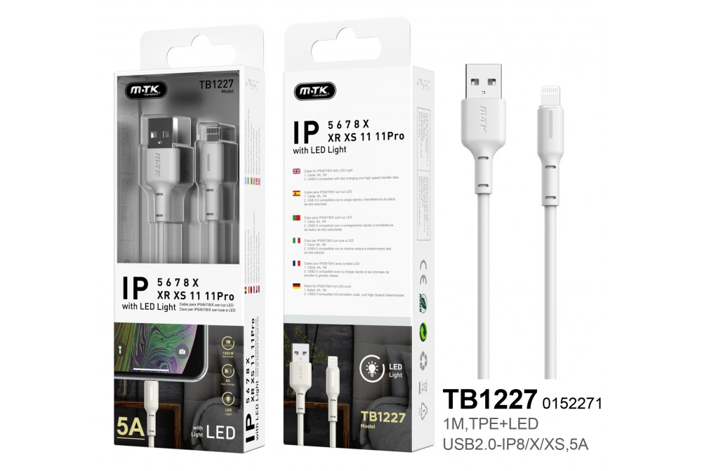 CABLE IPHONE 5A TB1227