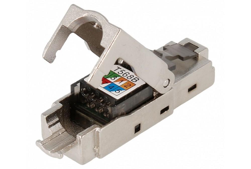 CONECTOR RJ45 CAT6 FTP MACHO CRIMPAR