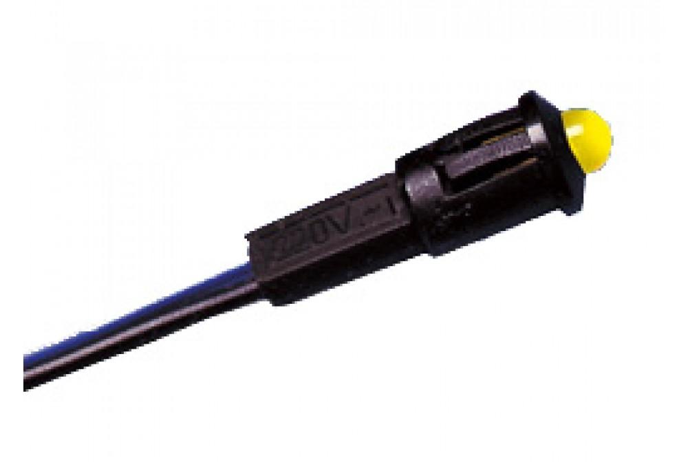 PILOTO LED C/CABLE 220V AMARILLO