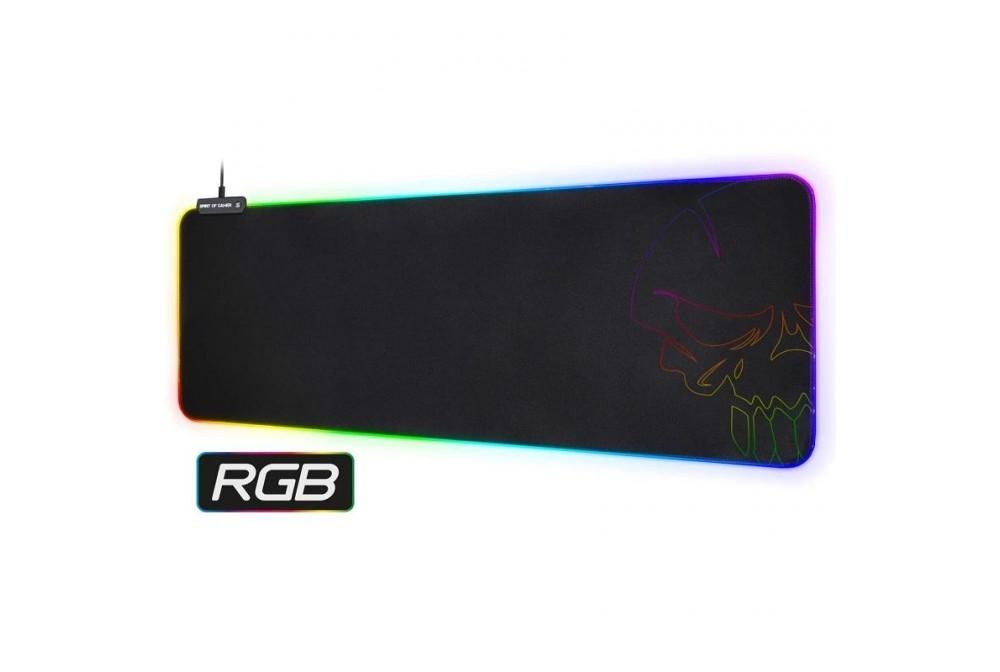 ALFOMBRILLA SKULL RGB GAMING XXL 80x30x0.3CM SPIRIT OF GAMER