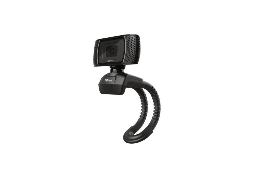 WEBCAM CON MIC TRINO HD720P USB NEGRO TRUST