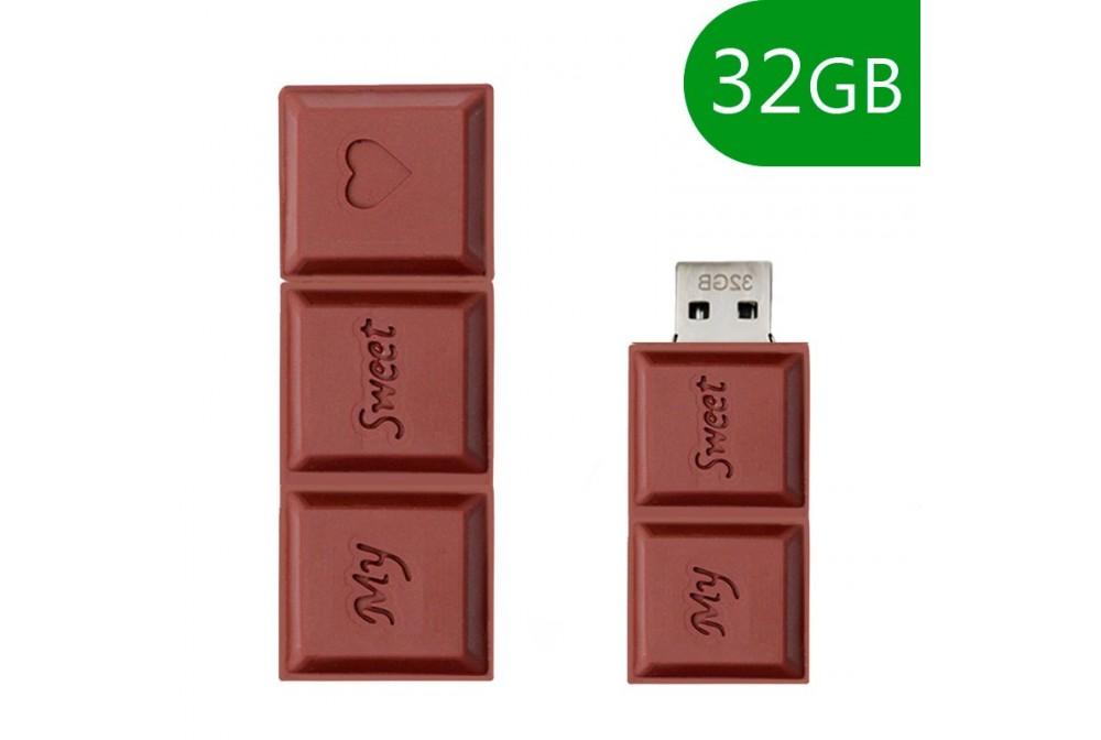 PEN DRIVE USB X32 GB SILICONA CHOCOLATE