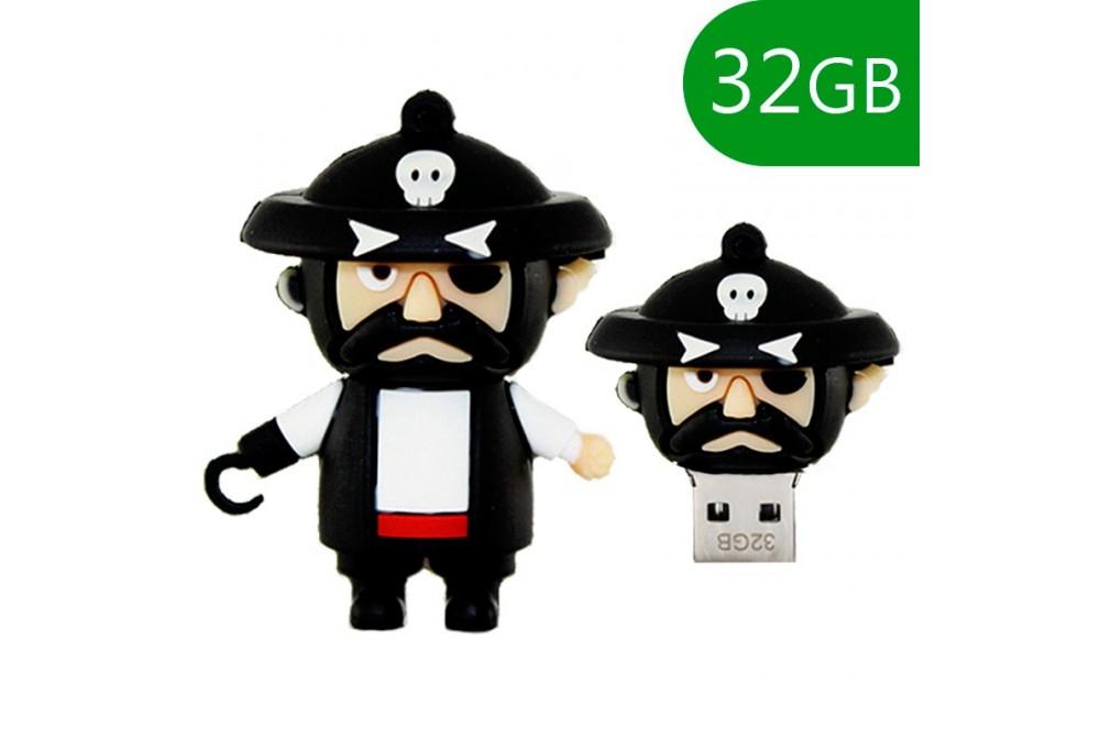 PEN DRIVE USB X32 GB SILICONA PIRATA