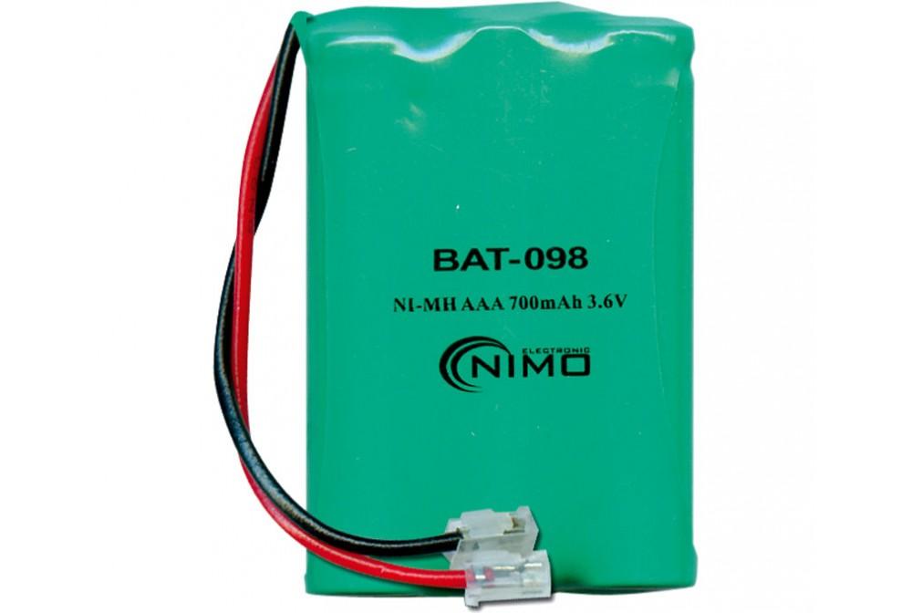 BATERIA 3.6V 600MA NMH R3X3