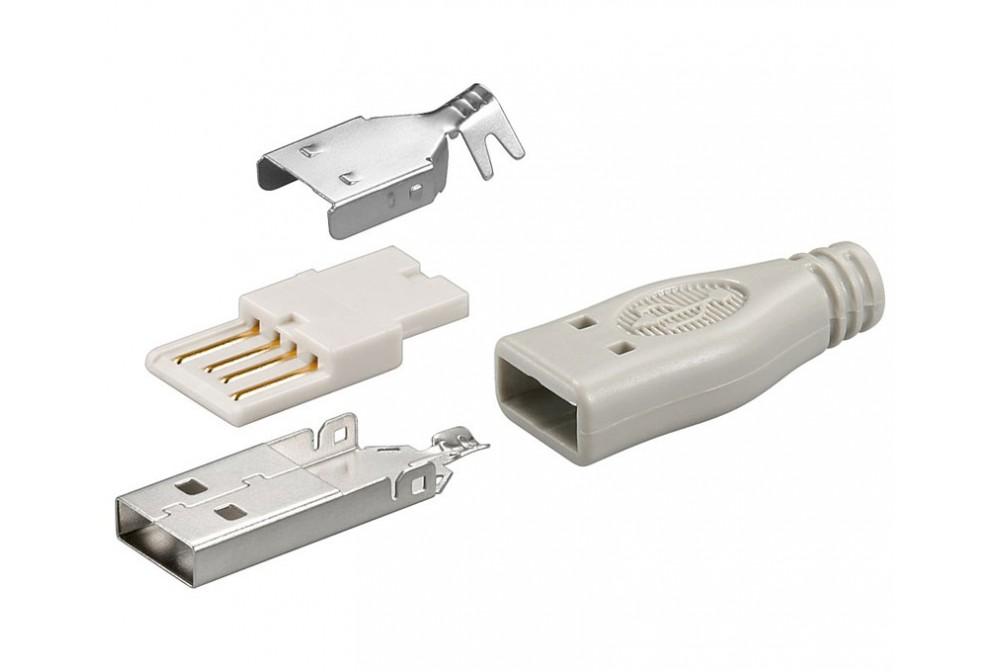 CONECTOR USB A MACHO AEREO