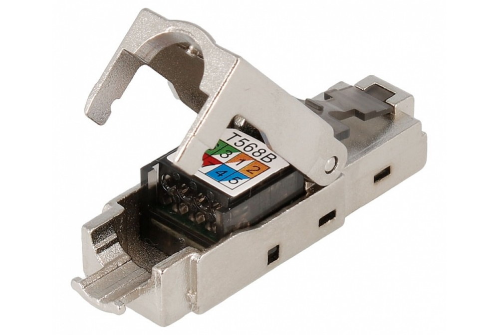 CONECTOR RJ45 CAT6 FTP MACHO CRIMPAR