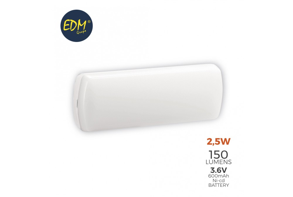 APLIQUE EMERGENCIA LED 150lm 2,5W 5LEDS