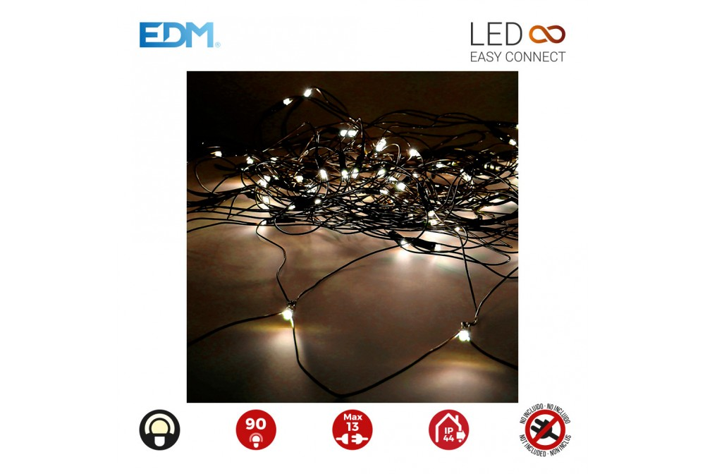 CORTINA RED EASY-CONNECT 2X1,5M 90 LEDS BLANCO CAL