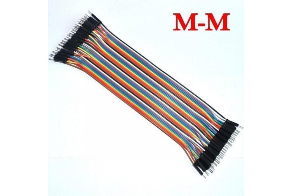 CABLES DUPONT 40CM, M-M, 40 UDS