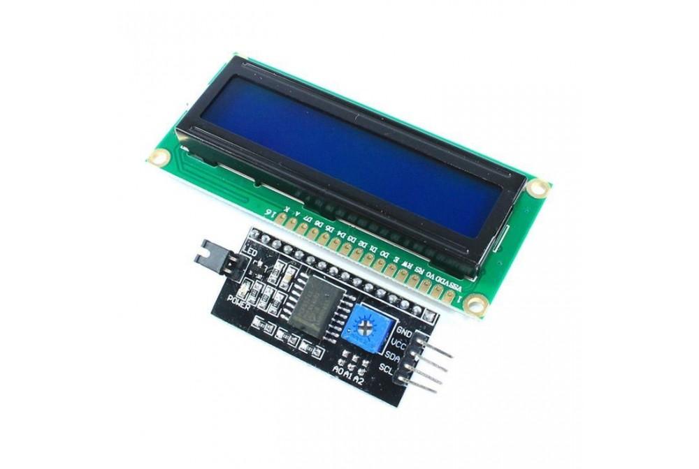 MODULO LCD 1602 + INTERFACE SERIE PARA ARDUINO