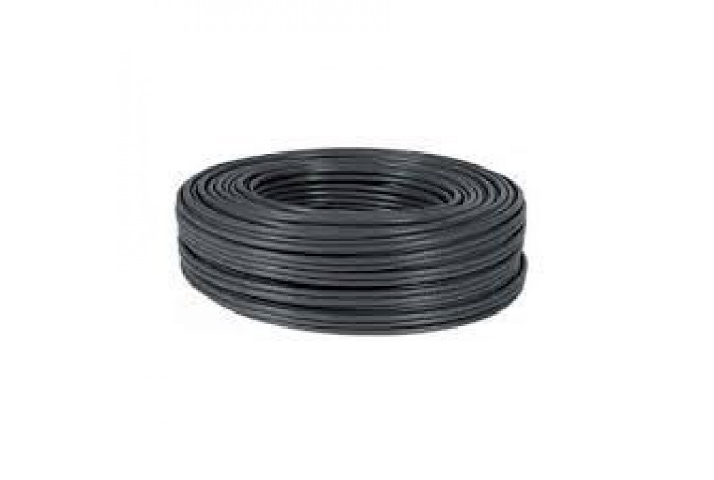CABLE RÍGIDO AWG24, HILO DE 0,5MM, 5MTS NEGRO