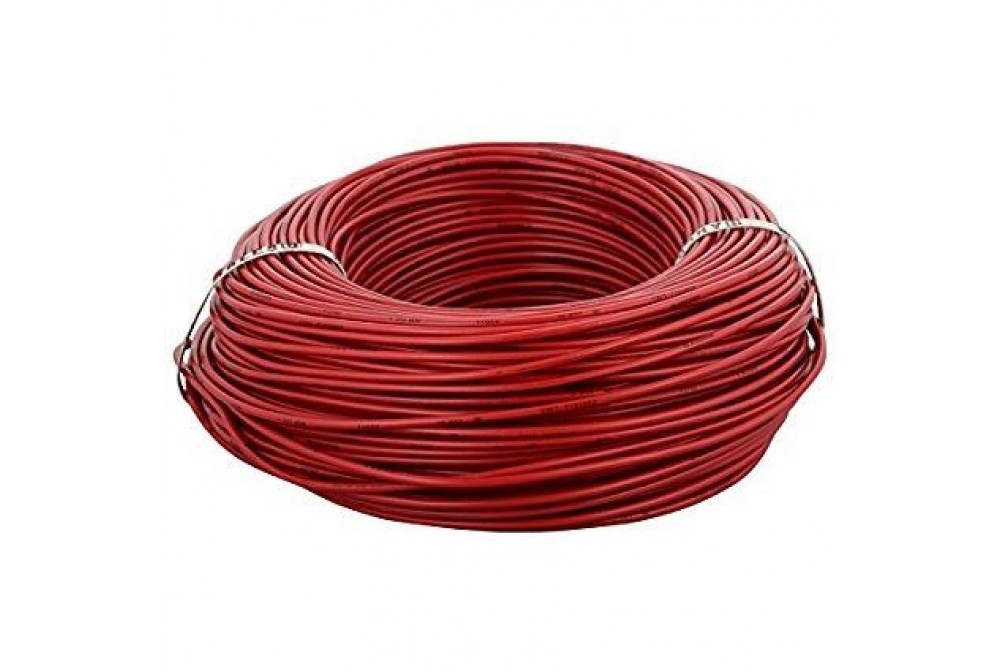 CABLE ELECTRICO DE 70MTS, ROJO