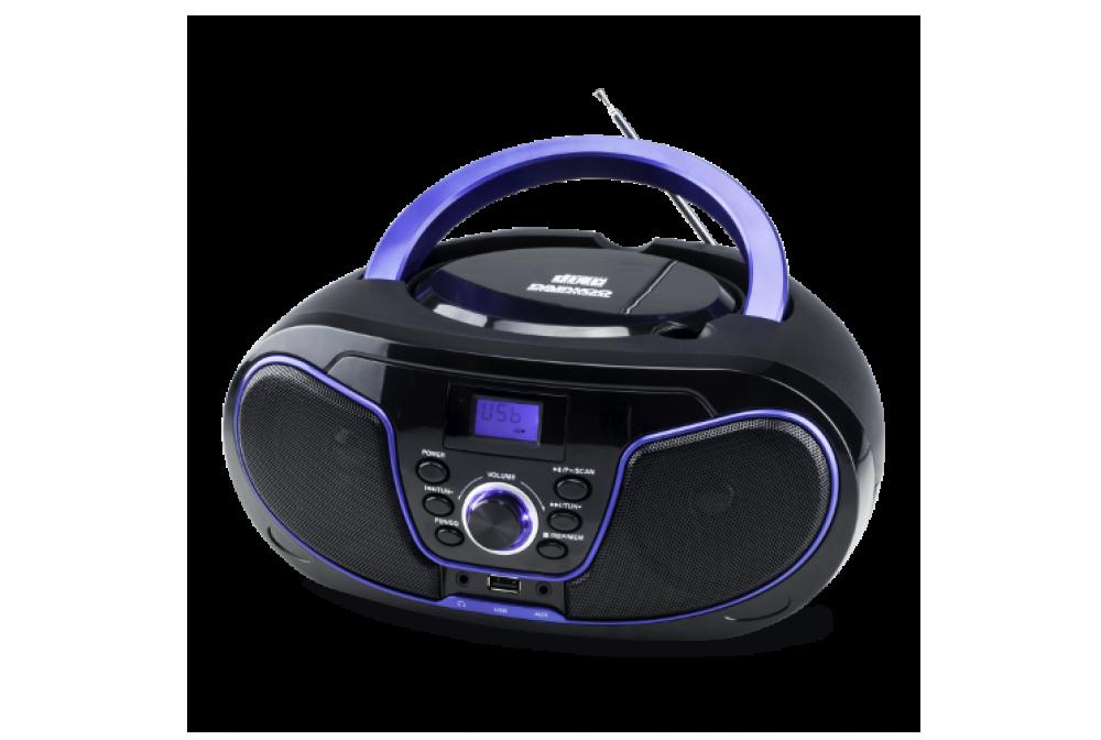 RADIO CD CON USB NEGRO  - AZUL