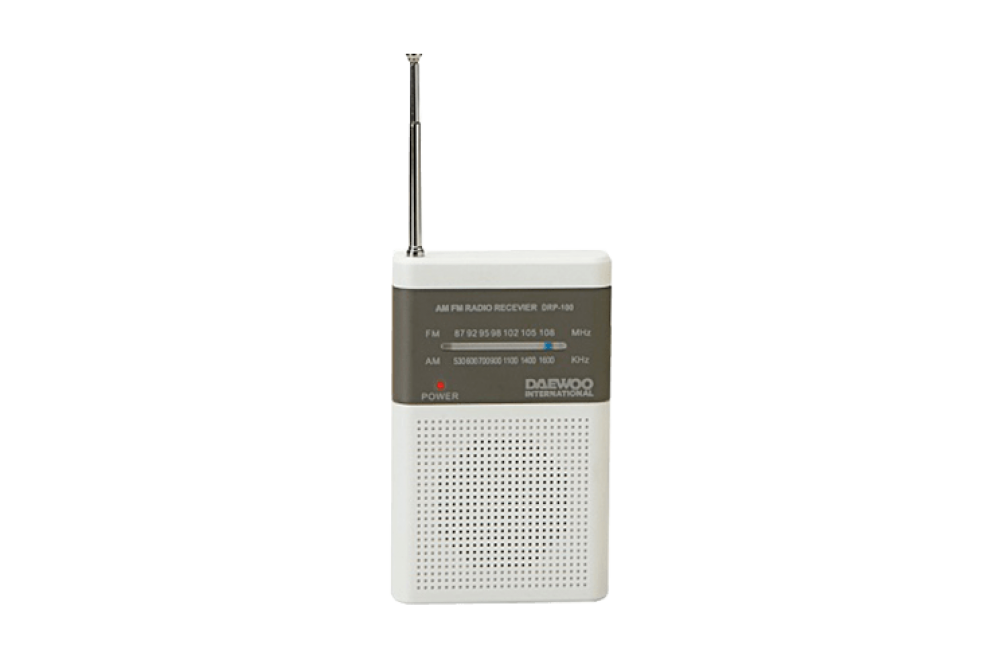 RADIO ANALOGICA PORTATIL DRP-100B BLANCO - GRIS